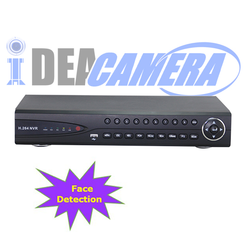 16CH 1080P HD 5IN1 Hybrid DVR with Face Detection,2 SATA HDD