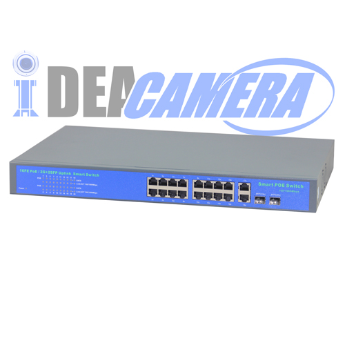 400W 16CH POE Swith,Power Supply for 16pcs IP Camera, Internal Power