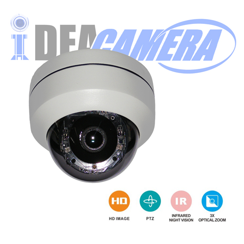 2MP 2.5inch IP HD IR MINI Meddle Speed Dome Camera,3X Optical Zoom Lens