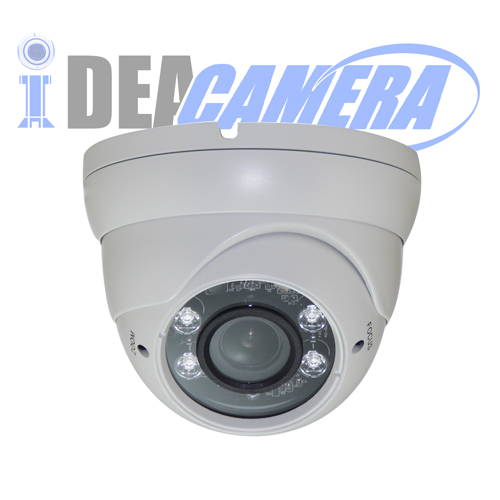 4MP Varifocal IR Dome H.265 IP Camera with Audio Input, Internal POE, VSS Mobile APP