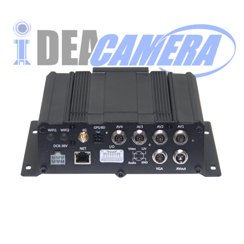 8CH 720P H.264 Vehicle Mobile Car DVR,Support WIFI,GPS location,3G/4G Module Optional