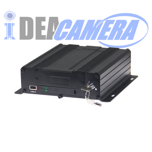 4CH 1080P HD AHD Vehicle Mobile Car DVR, 3G/4G Module Optional, Built-in GPS location