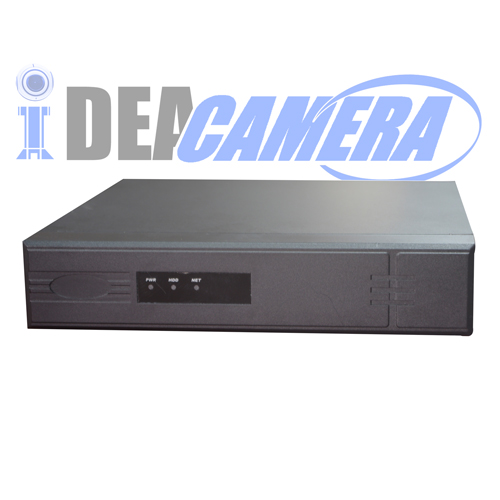 4CH H.264 NVR with Face Detection, Max 4ch Playback,4pcs POE Ports