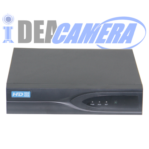4CH 4MP HD 5IN1 Hybrid DVR with 1CH Face Detection,VSS Mobile App,P2P
