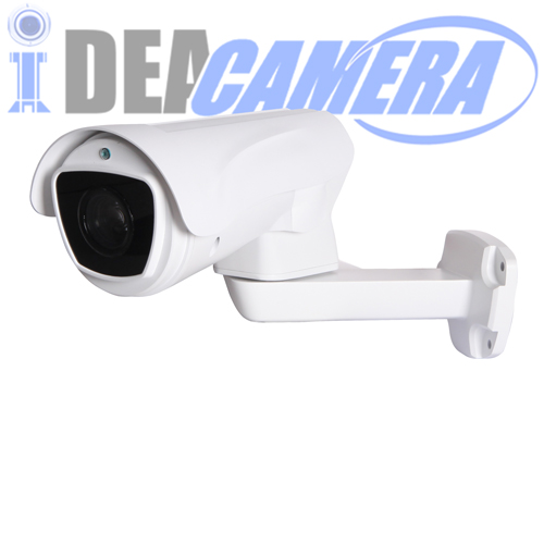 2MP H.265 MINI PTZ Bullet Starlight Camera, Full color all night, 4X 2.8-12mm Auto Focus Zoom Lens