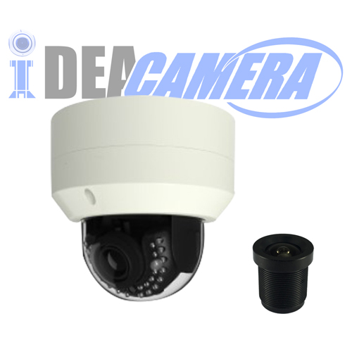 4K H.265 Metal Dome IP Camera,3840*2160Pixels Resolution,VSS Mobile App,Support face detection