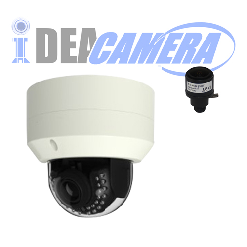 4K IR Metal Dome IP Camera,3840*2160Pixles,Audio In&Out,POE optional,VSS Mobile App