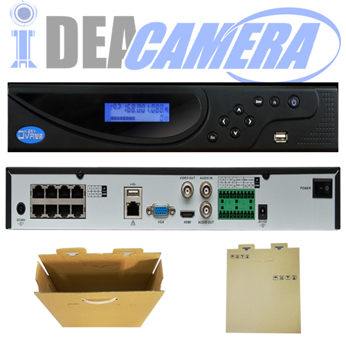 32CH 2SATA H.264 NVR,8POE ports,32CH face detection realized by camera,VSS Mobile App,Max 32ch 6MP IPC