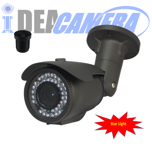 Starlight IP Camera,2MP H.265 Outdoor IP Camera,VSS Mobile App,POE optional