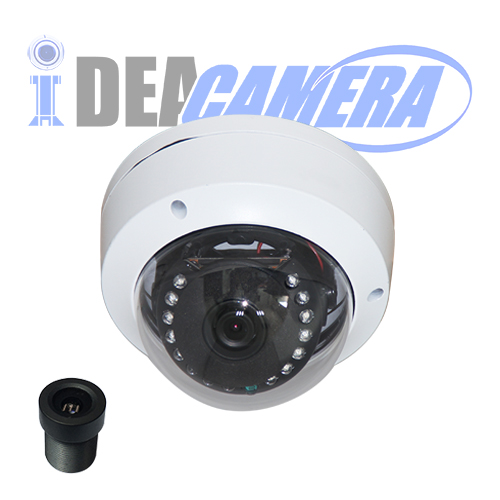 8MP IP Dome Camera with Audio In,Internal POE,H.265 4K HD,3840*2160@25/30fps,VSS Mobile APP